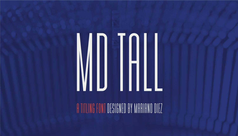 MD TALL Free condensed Font - sans-serif