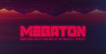 Megaton Free Font - decorative