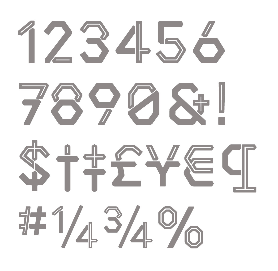 Middlecase Next Free Font - decorative-display