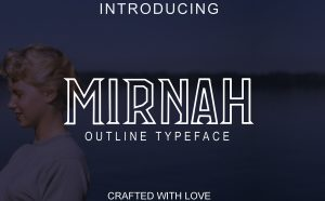 Mirnah Outline Free Font - decorative