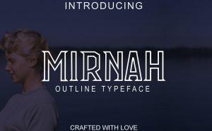 Mirnah Outline Free Font - decorative