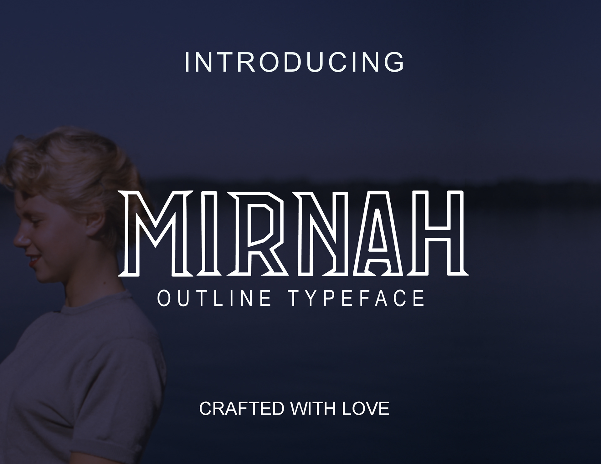 Mirnah Outline Free Font - decorative-display
