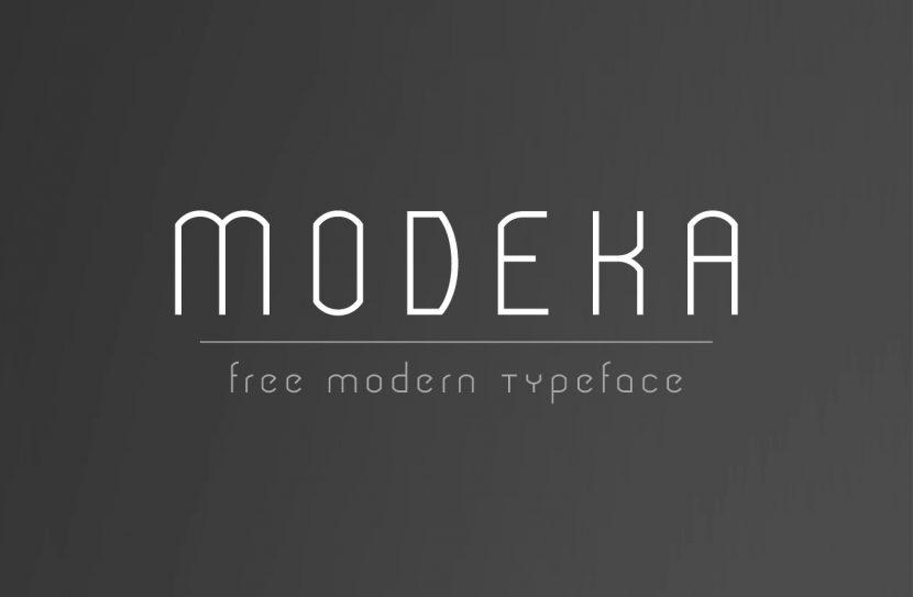 Modeka Free Font - sans-serif