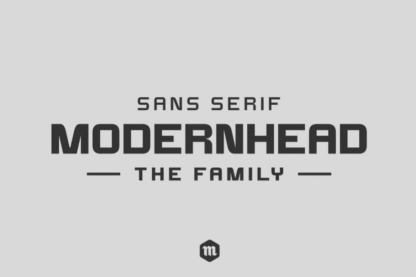 Modernhead Free Font - sans-serif