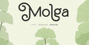Molga Free Font - decorative