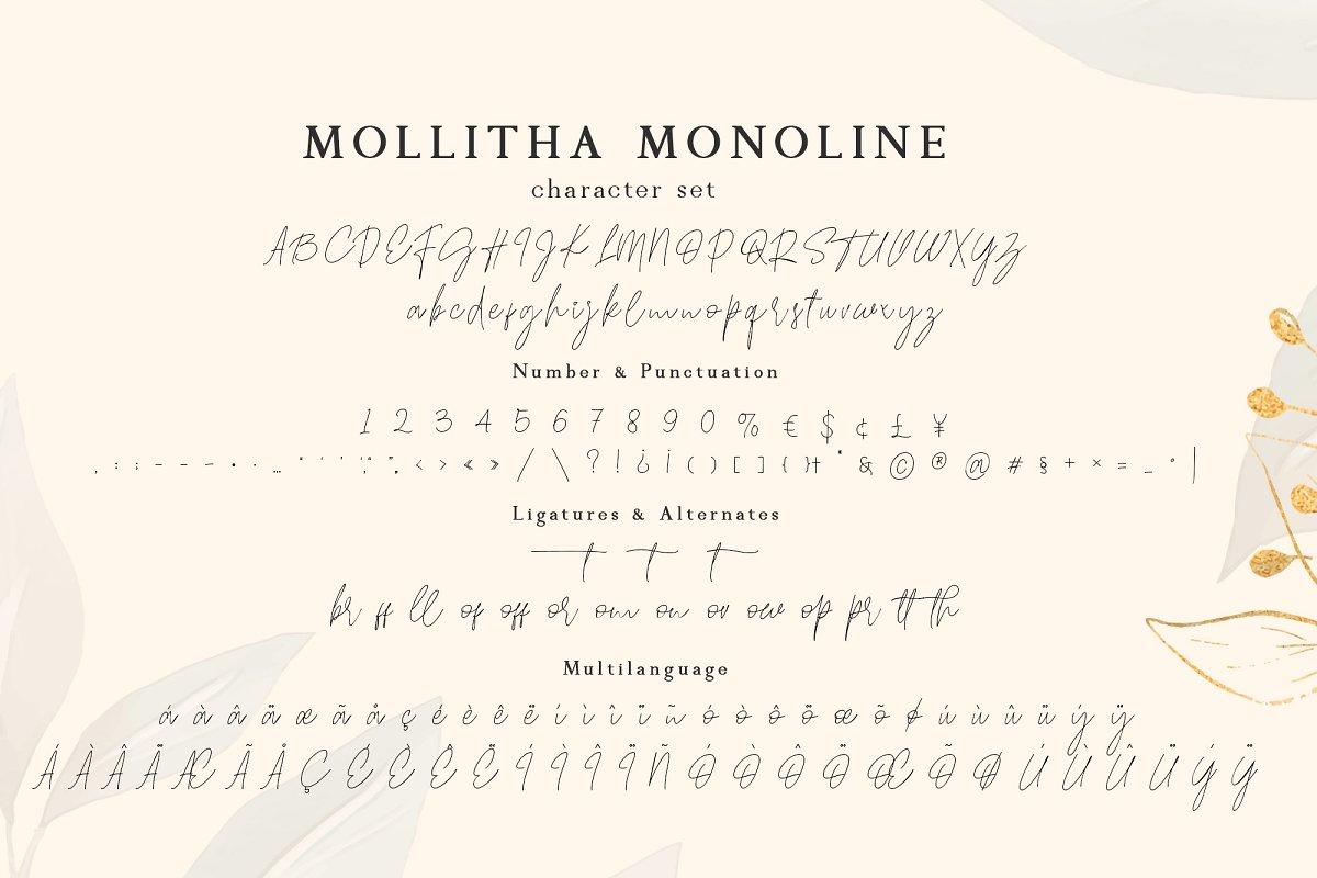 Mollitha Free Font - script