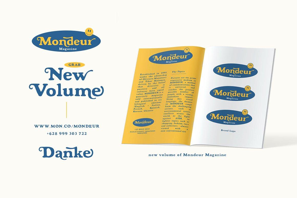 Mondeur Free Font - serif
