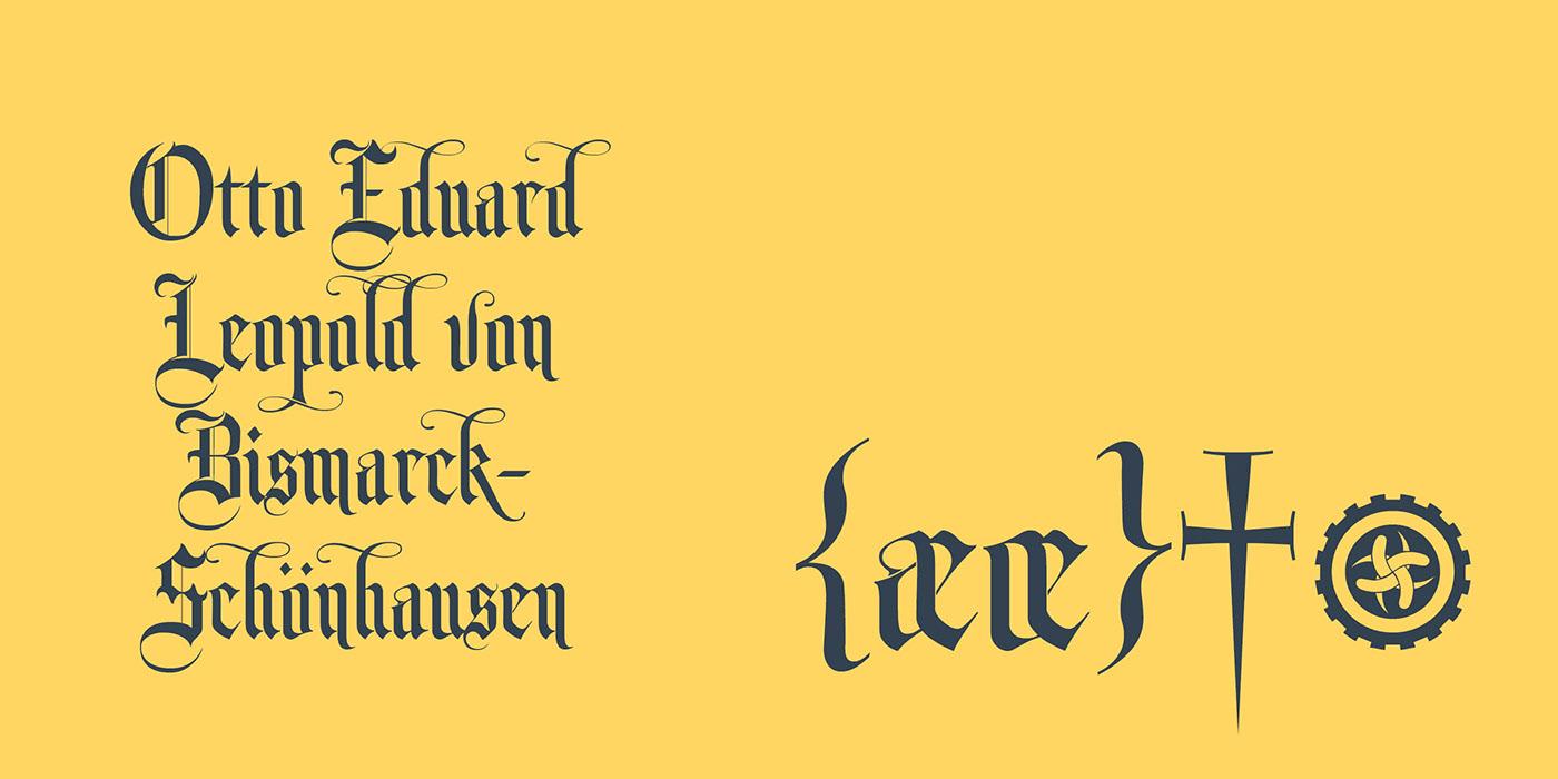 Monk Gothic Free Font - blackletter