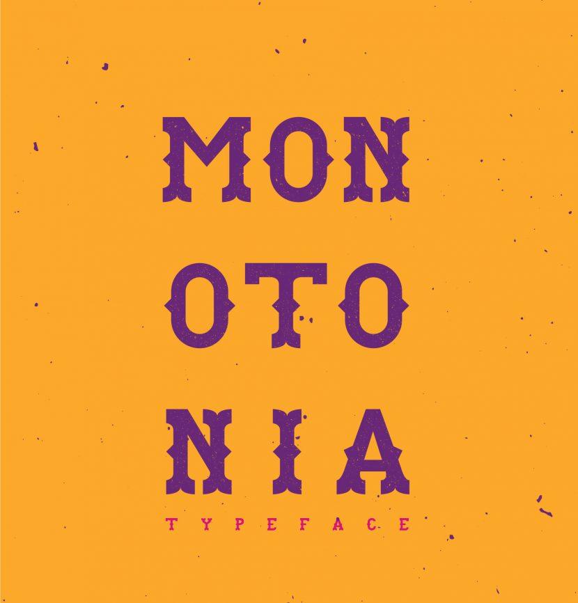 MONOTONIA Free Font - decorative