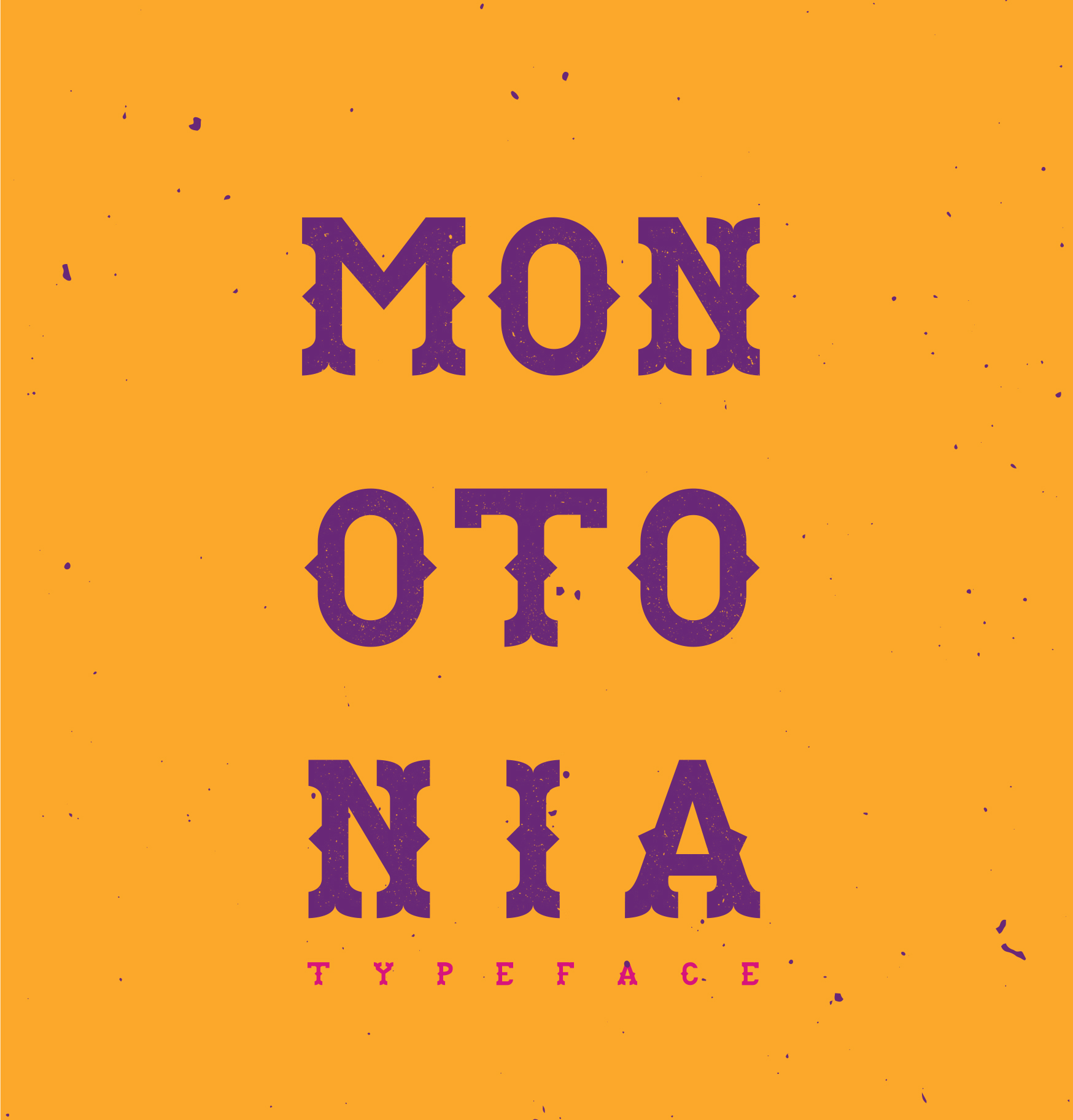 MONOTONIA Free Font - decorative-display