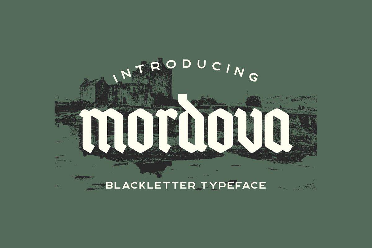 Mordova Free Font - blackletter