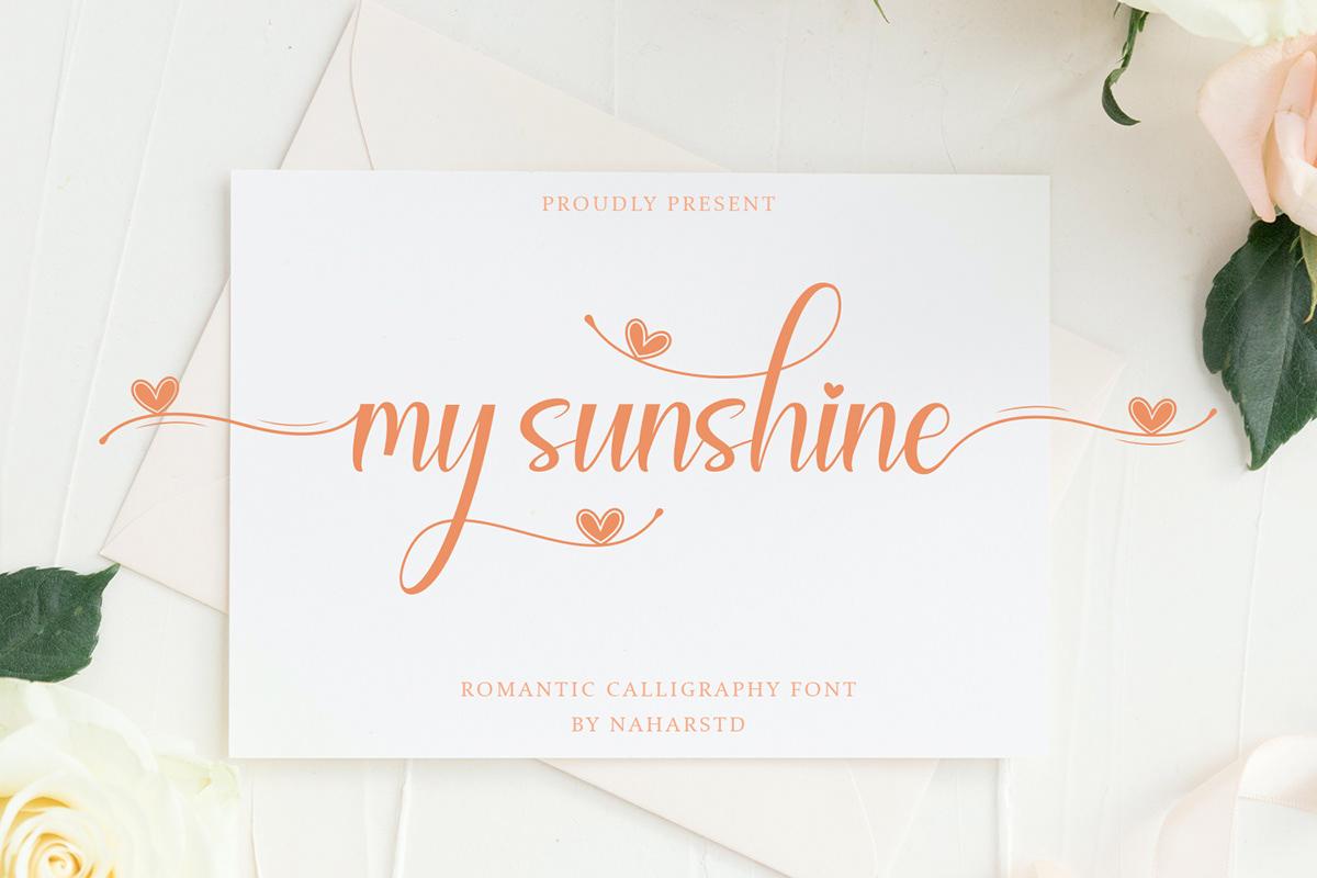 My Sunshine Free Font - script