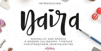 Naira Script Free Font - script