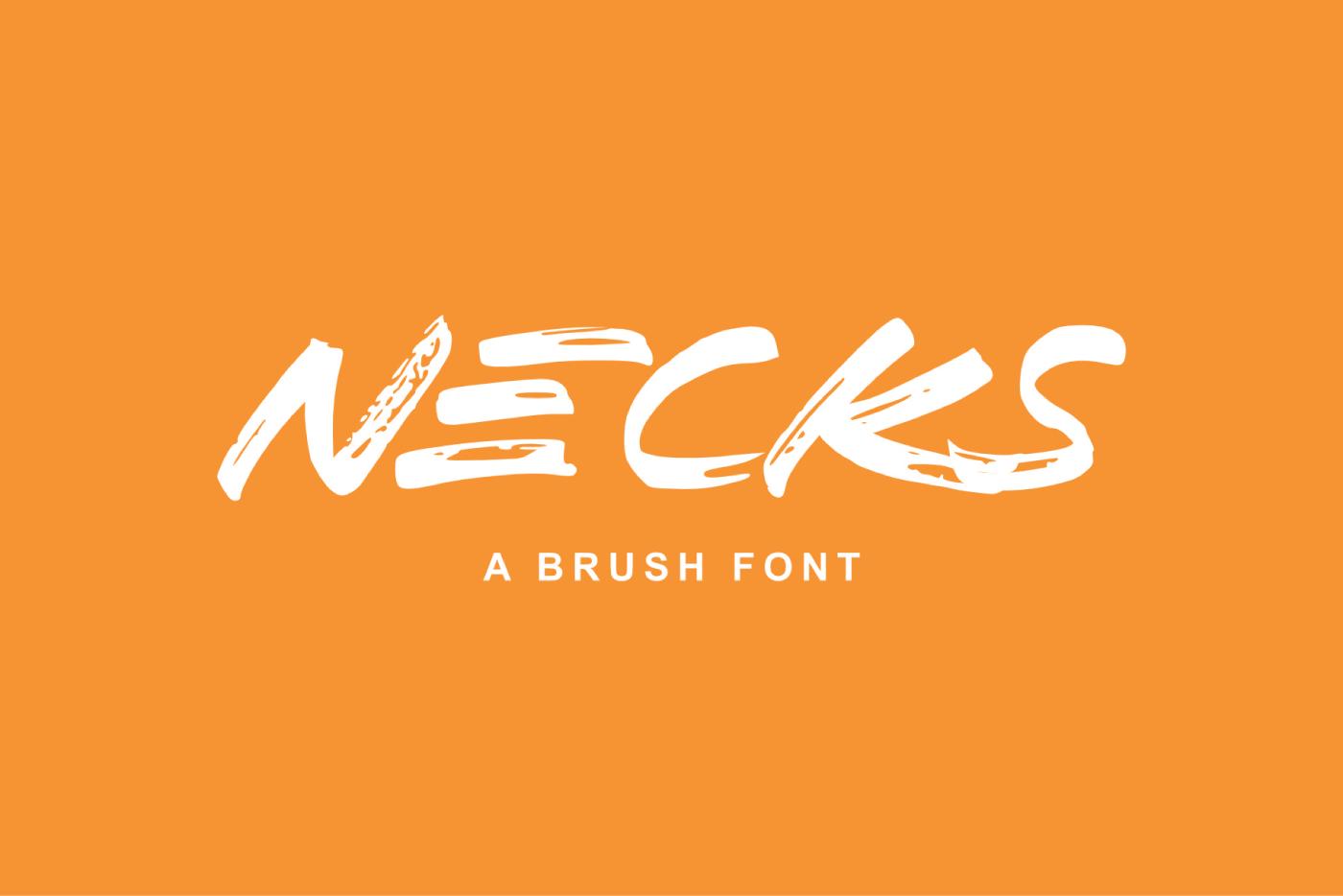 NECKS Free Font - script