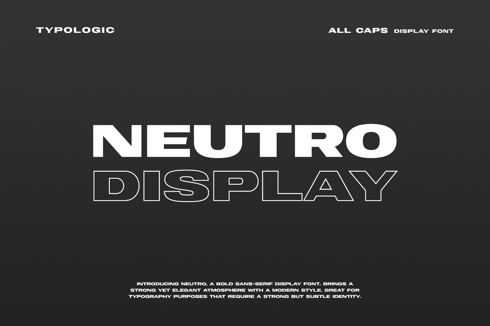 Neutro Display Free Font - sans-serif