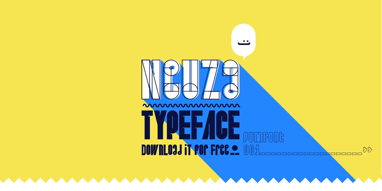 Neuza Typeface Free Font - decorative-display