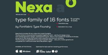 Nexa Font Free - sans-serif