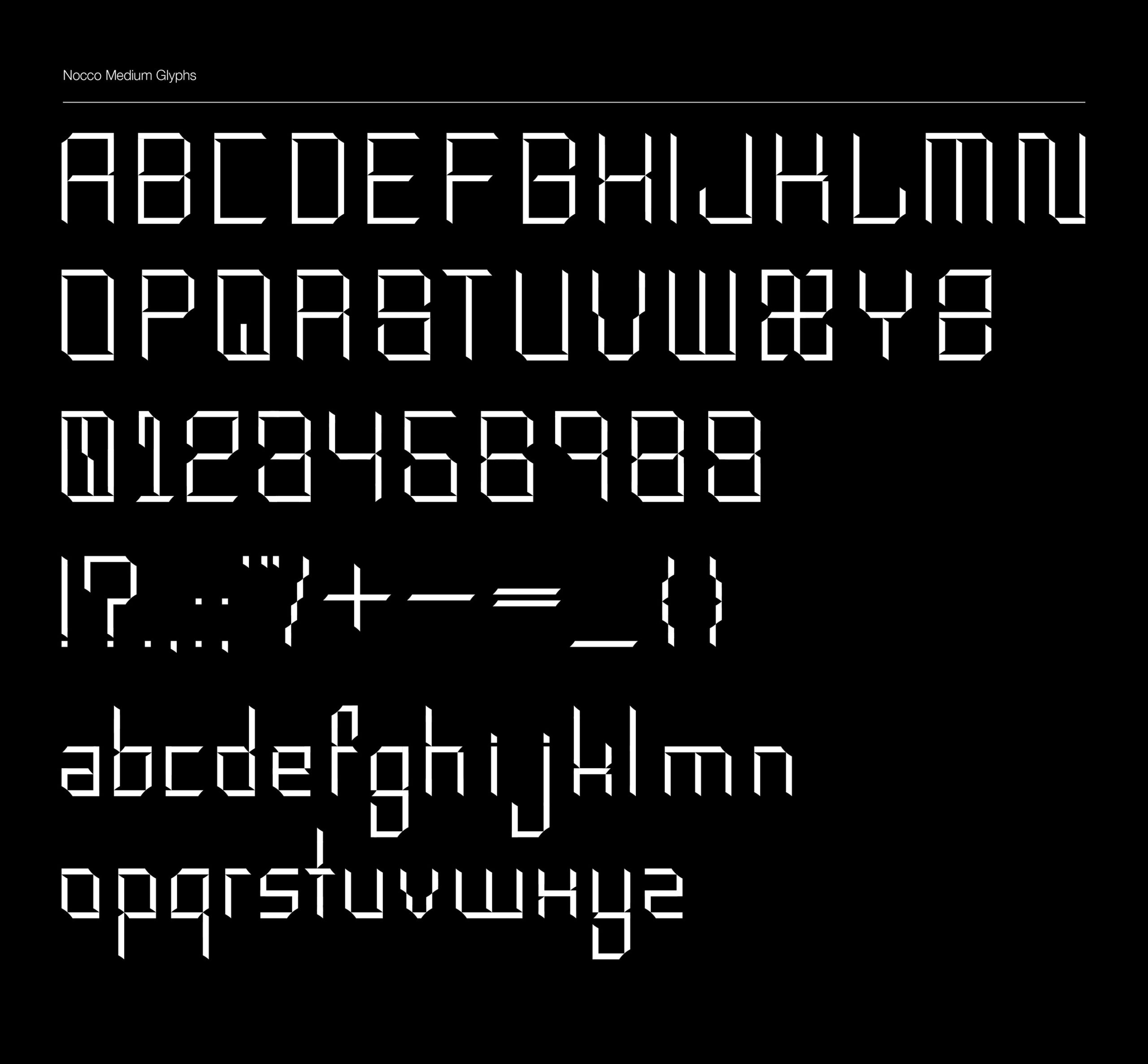 NOCCO Free Font - decorative-display