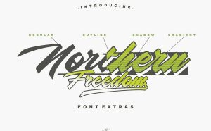 Northern Freedom Free Font - script