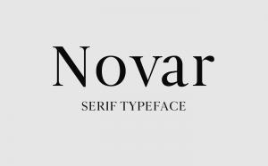 Novar Free Font - serif