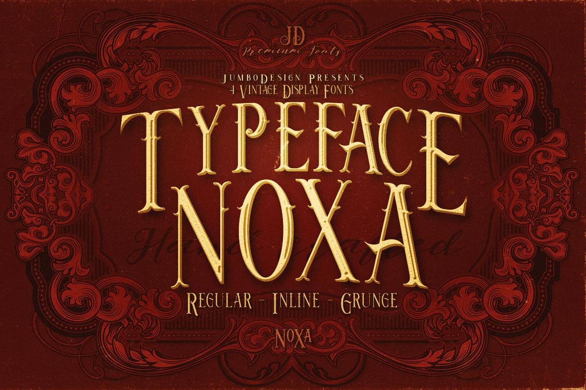 Noxa Grunge Free Font - serif