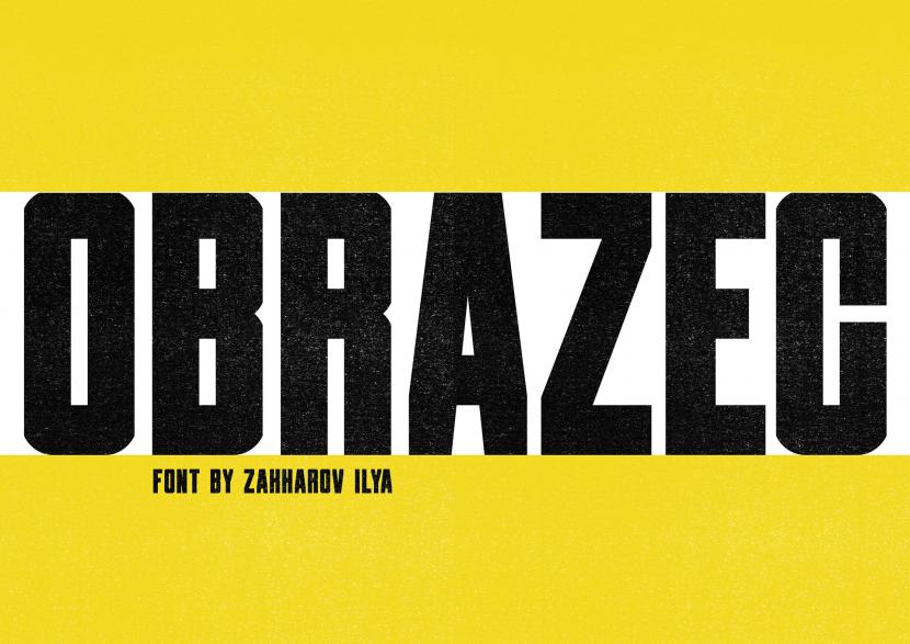 OBRAZEC Free Font - sans-serif