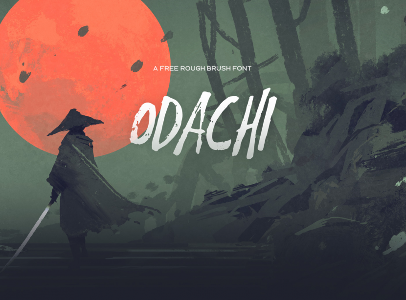Odachi Free Brush Font - script
