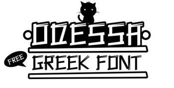 Odessa free font - decorative
