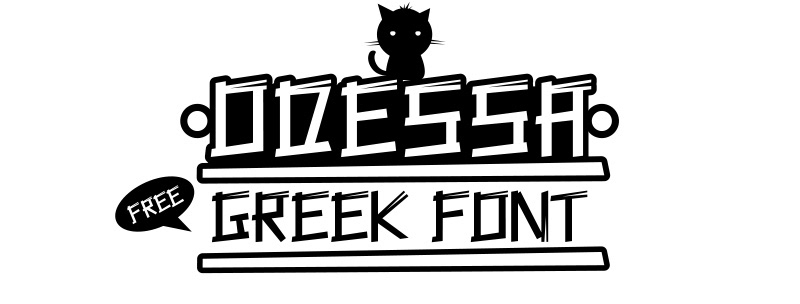 Odessa free font - decorative-display