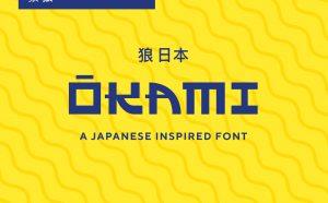 OKAMI - A Japanese Inspired Font - decorative