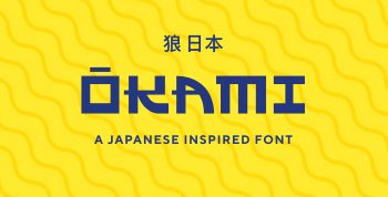 OKAMI - A Japanese Inspired Font - decorative