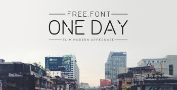 ONE DAY Free Font - sans-serif