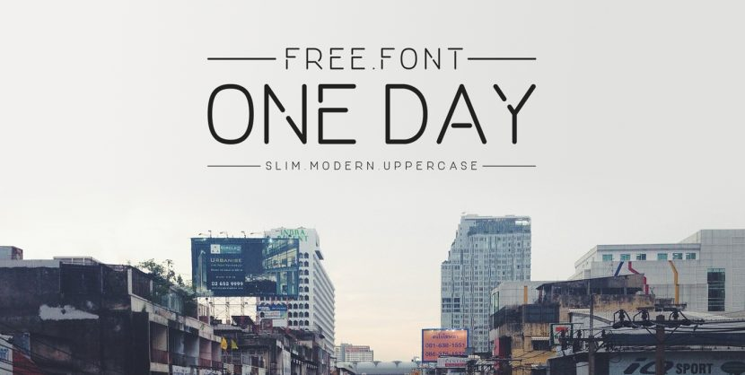 ONE DAY Free Font - sans-serif