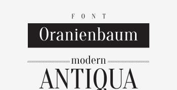 Oranienbaum Free Serif Font - serif