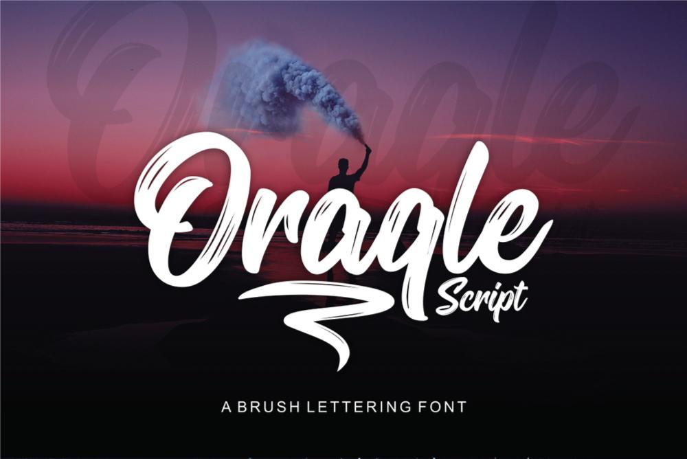 Oraqle Script Free Font - script