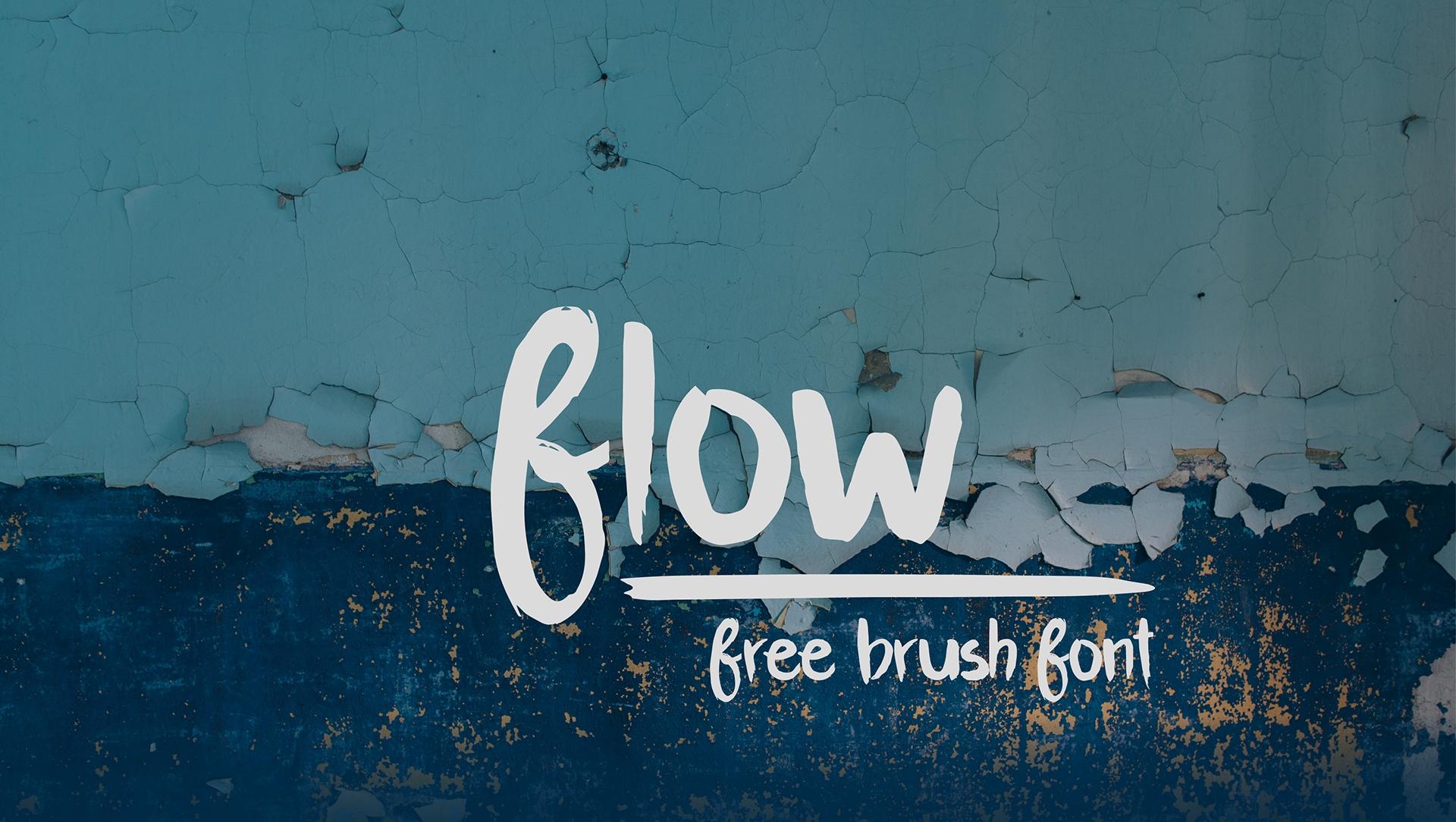 Flow free brush font