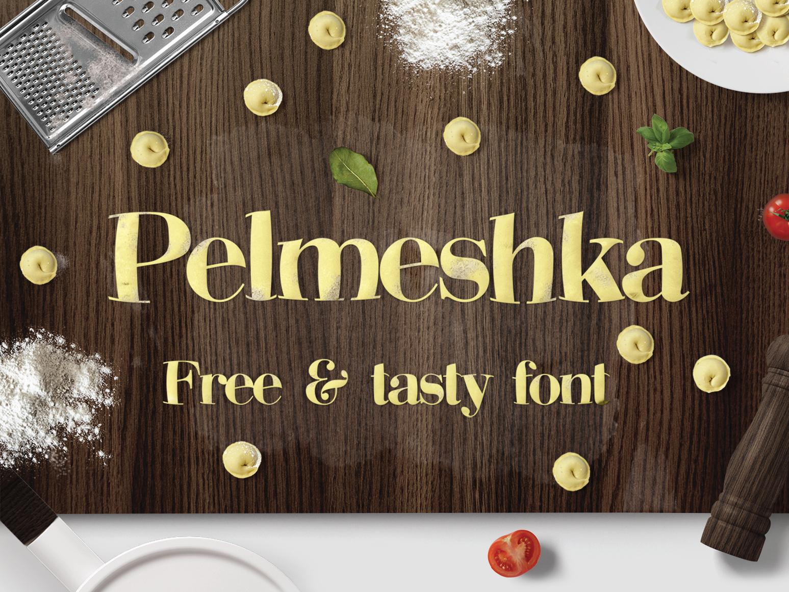 Pelmeshka Free Font - serif