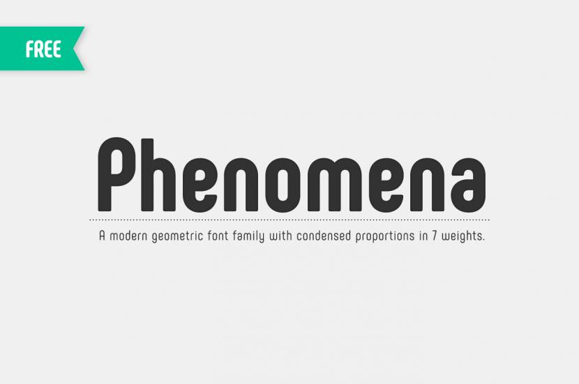 Phenomena Free Font Family