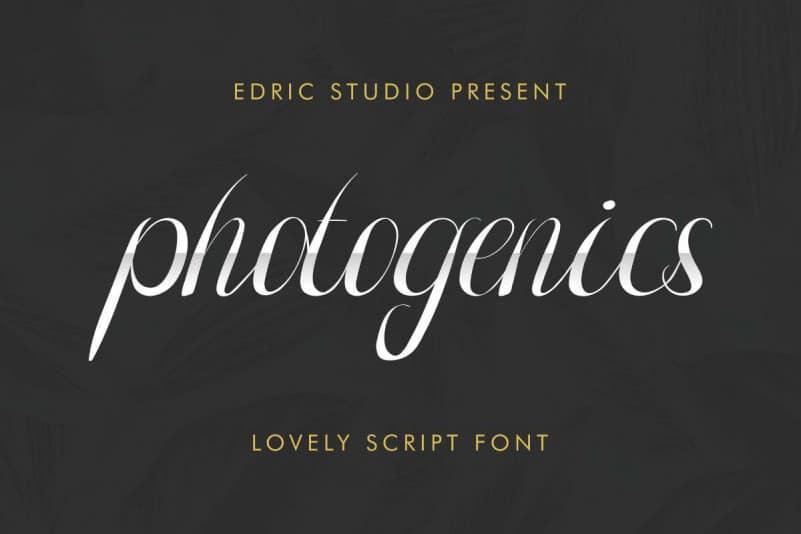 Photogenics Free Font - script