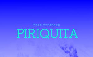 Piriquita Free Font - serif