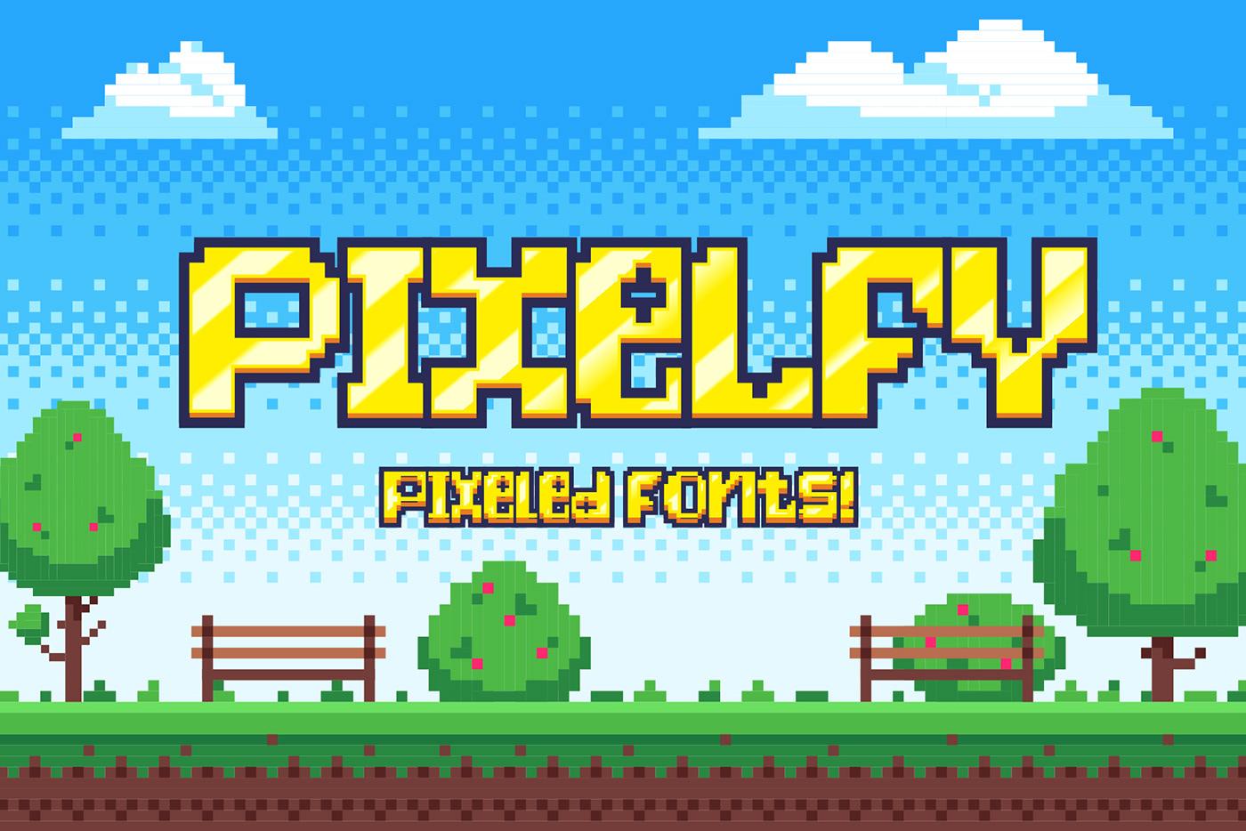 Pixelfy Free Font - bitmap-fonts
