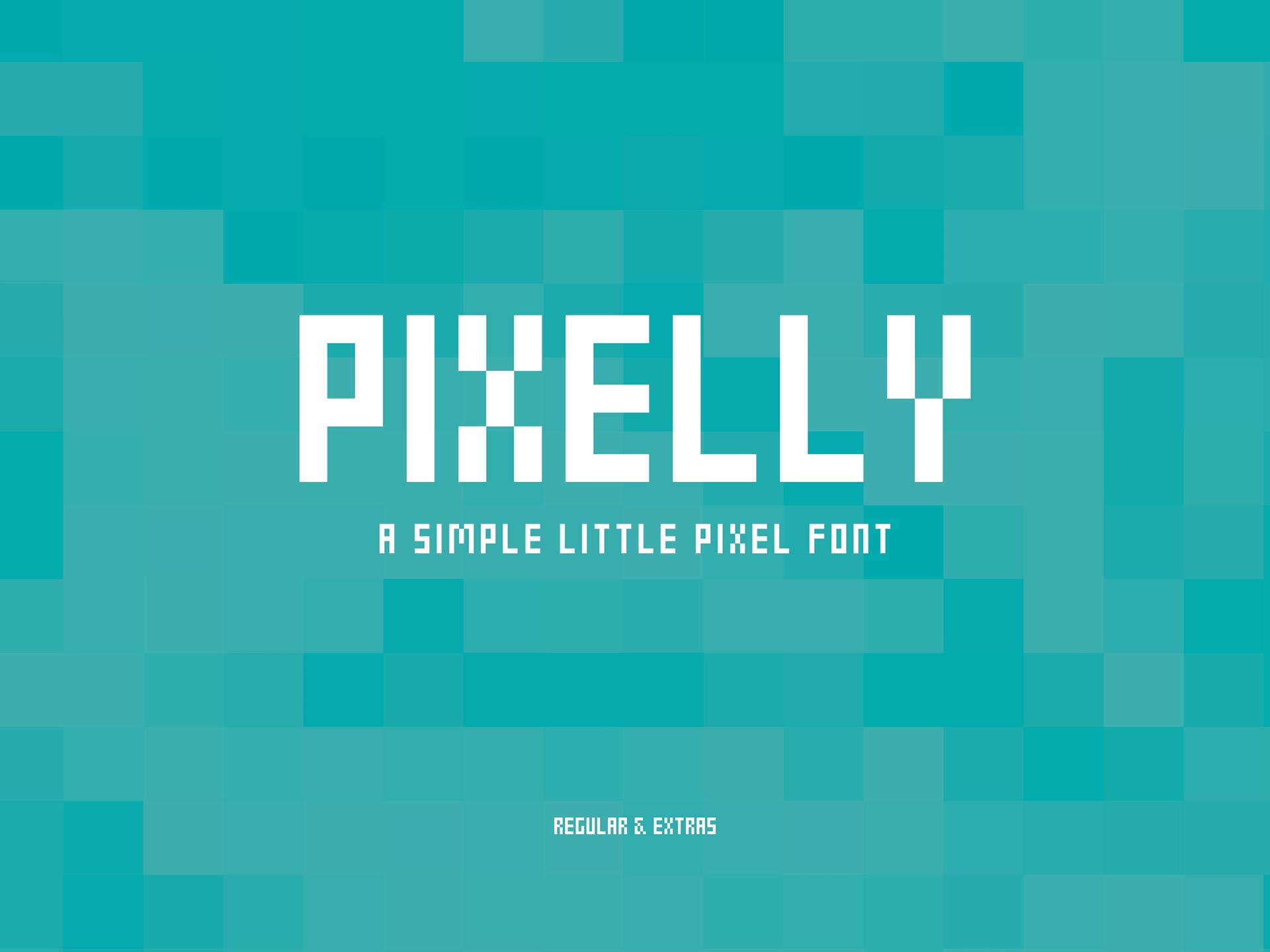 Pixelly Free Font - bitmap-fonts