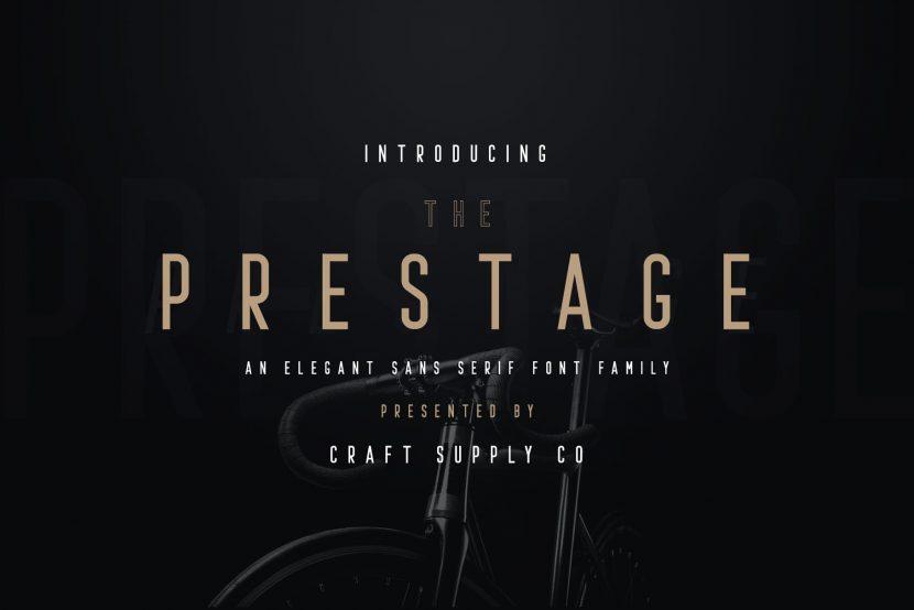 Prestage Free Font Family - sans-serif