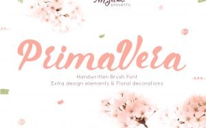 Primavera Handwritten Brush Free Font - script