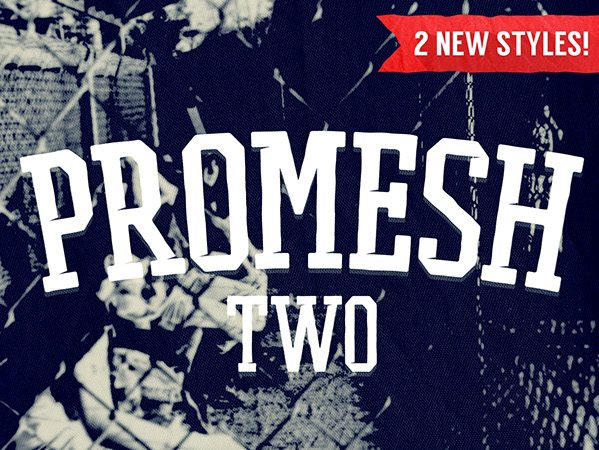 PROMESH TWO Free Font - serif