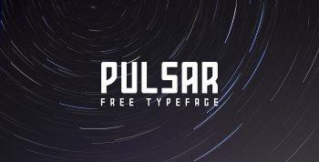 PULSAR Free Font - decorative