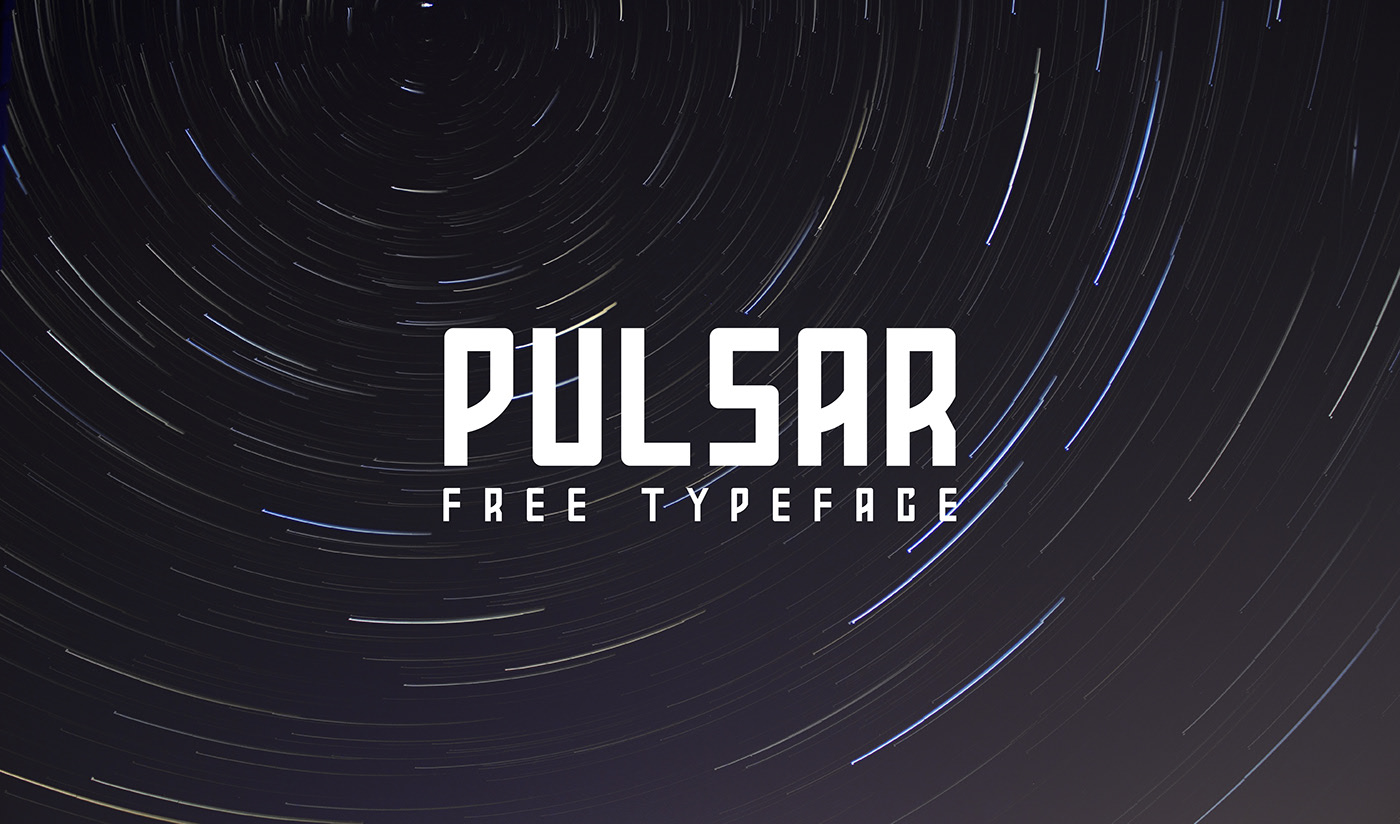 PULSAR Free Font - decorative-display