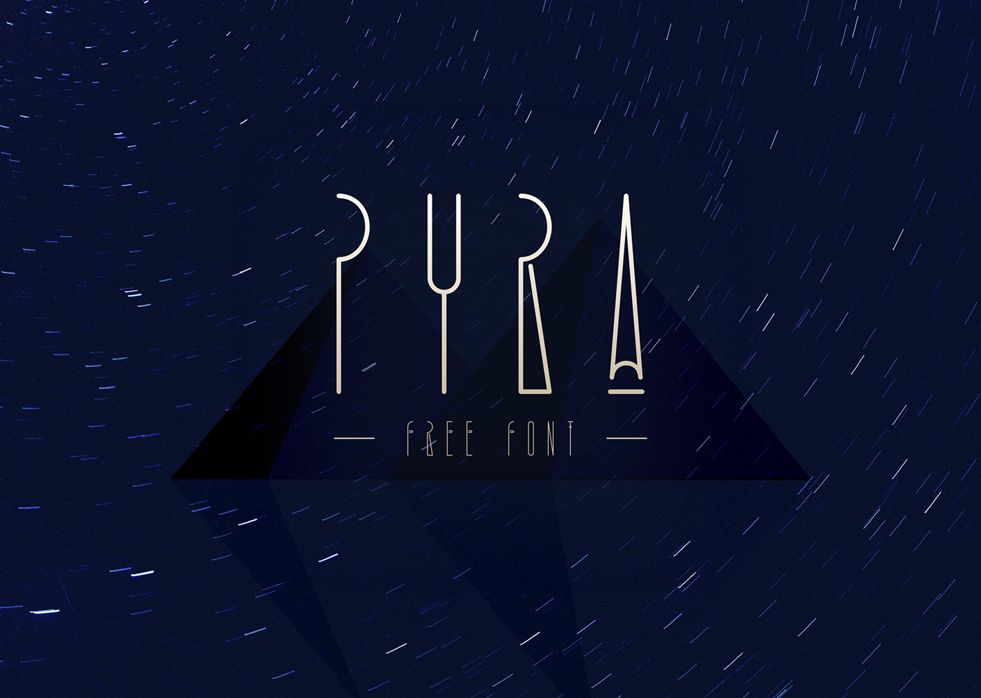 PYRA Free Font - decorative-display