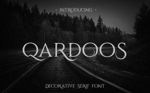 Qardoos Free Serif Font - serif
