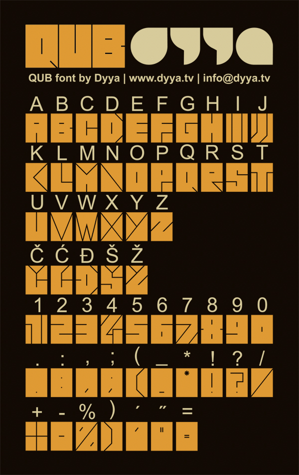 QUB Free Font - decorative-display